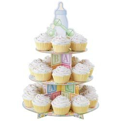 Bulk Buy: Wilton (3-Pack) Treat Stand Baby Feet 12'X17.5' Holds 24 Cupcakes W1492 (Wilton Cupcake Stand Baby Feet compare prices)