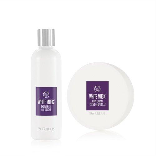 La Body Shop Muschio Bianco Bagnoschiuma 250ml + la Body Shop Muschio Bianco Crema Corpo 200ml/The Body Shop White Musk Shower Gel 250ml + The Body Shop White Musk Body Cream 200ml