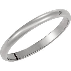 Genuine IceCarats Designer Jewelry Gift Platinum Wedding Band Ring Ring. 02.00 Mm Light Half Round Band In Platinum Size 9