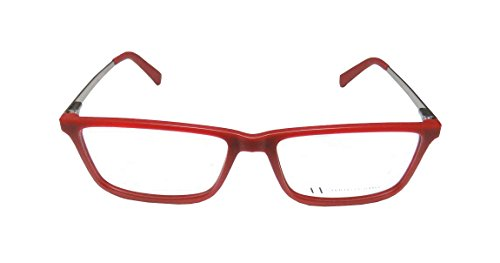 [Armani Exchange 3027 Mens/Womens Designer Full-rim Flexible Hinges Eyeglasses/Glasses (55-16-140, Red / Shiny] (Bertha Red Costumes)