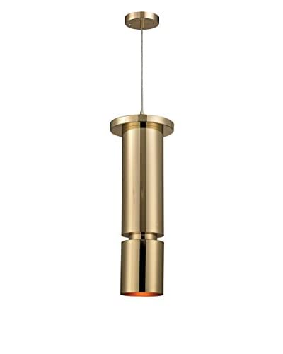 Artistic Lighting Stacked Geometric 1-Light Slim Pendant, Gold