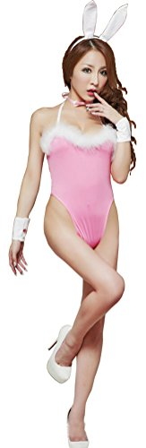 [Women Lingerie babydoll Teddies Rabbit Bunny Women Costume Cosplay Set Pink,One size] (Pink Sexy Costumes)