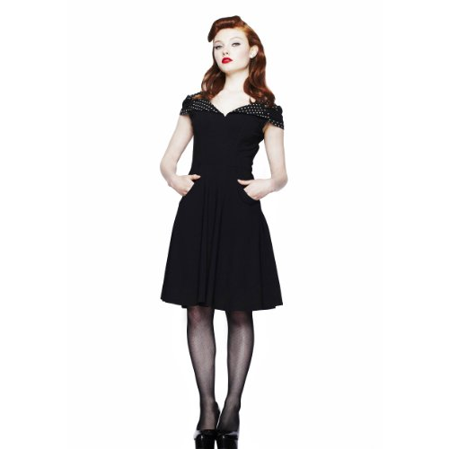 Hell Bunny Dress EVIE DRESS black-white L