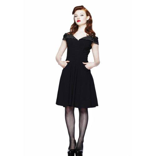 Hell Bunny Dress EVIE DRESS black-white L