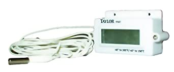 Taylor Digital Panel Mount Thermometer, -40 to 300 Degree F, -40 to 150 degree C