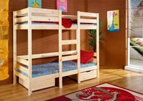 BRAND NEW BUNK BED, High Bed Bart, PINE WOOD VARNISHED, 2 SIZES (190cm x 90cm x 170cm)