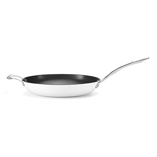 Food & Wine For Gorham Light Cast Iron 12 Inch Skillet w/ Helper Handle, White by Food & Wine Collection for Gorham (Food And Wine Cast Iron compare prices)
