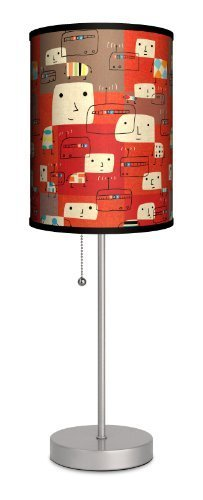 """Featured Artists - James Yang """"Radio"""" Sport Silver Lamp by LAMP IN A BOX, LLC."""