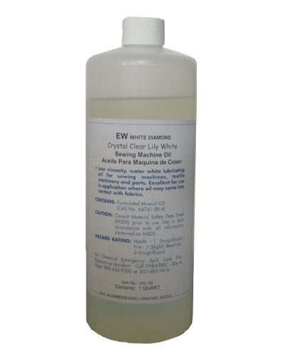 Purchase 1 Quart Lily White Industrial Sewing Machine Oil Made in USA, premium