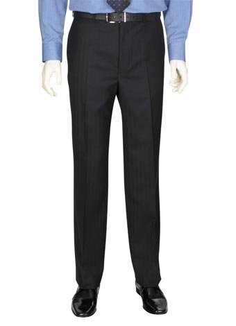 Austin Reed Navy Herringbone Trousers REGULAR MENS 42