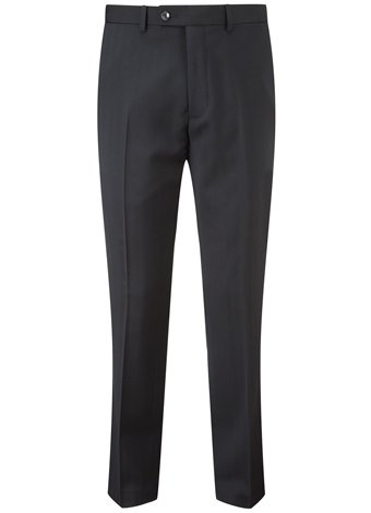Austin Reed AR RED FF NAVY HERRINGBONE TROUSERS REGULAR MENS 34