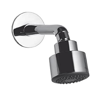 hindware showers overhead shower with shower arm and wall flange chrome