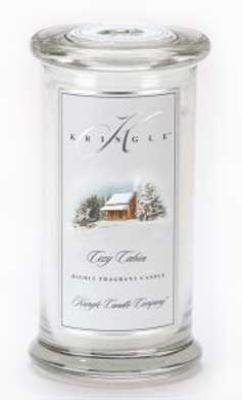 Kringle Candle Company Large Apothecary Jar - Cozy Cabin