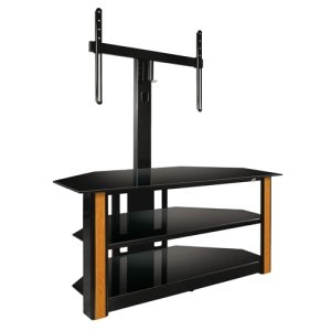 Cheap Bell'O Triple Play TPC-2128 A/V Equipment Stand. UNIVERSAL FLAT PANEL TV STAND INCLUDES DECORATIVE PANEL INSERTS THFURN. 125 lb Load Capacity – 3 x Shelf(ves) – 59.5′ Height x 52′ Width x 22′ Depth – Glass – Black (ITE-DE6110-INGM|1)
