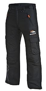 Arctix Men's Classic Cargo Snow Pants, Black, Broncos L