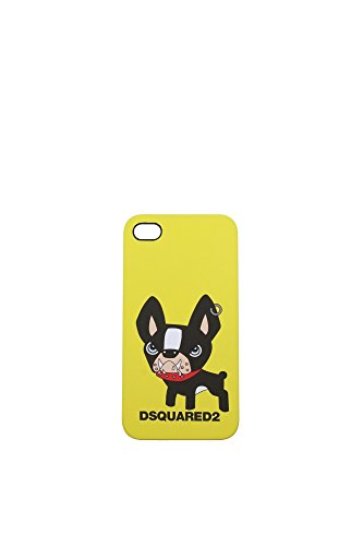 Porta iPhone Dsquared2 Donna Policarbonato Giallo S13IT6011V33870 Giallo 6x11.5 cm