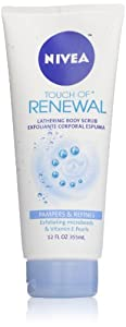 Nivea Body Touch of Renewal Lathering Body Scrub, 12 Ounce
