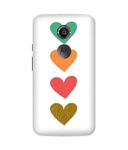 Bih Hearts Printed Back Cover Case For Motorola Moto X