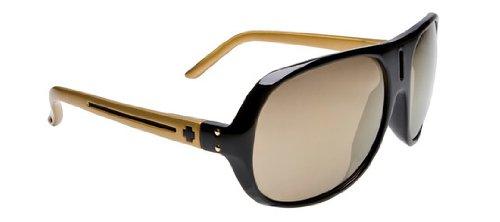 Spy Optic Stratos II Sunglasses,Black W/Gold Frame/Bronze W/