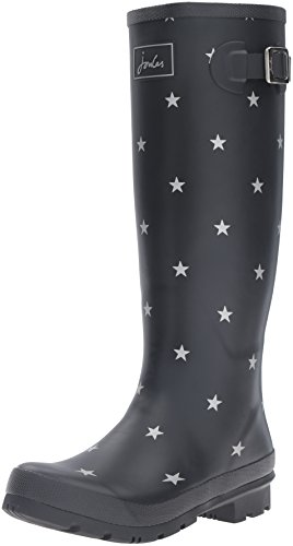 Joules-Womens-Wellyprint-Rain-Boot-Black-Star-8-M-US