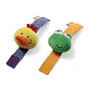 Amazon.com : Infantino Wrist (Frog & Duck) & Foot (Bunny & Cat) Rattle