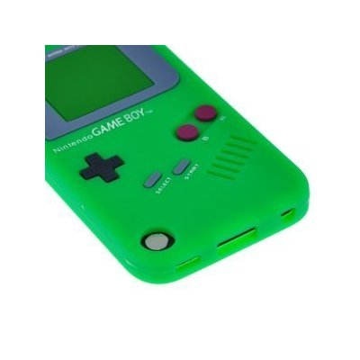 Green Nintendo Game Boy Style Soft Silicone Case Cover Skin for Apple iPod Touch 5 5G (5th Generation)
