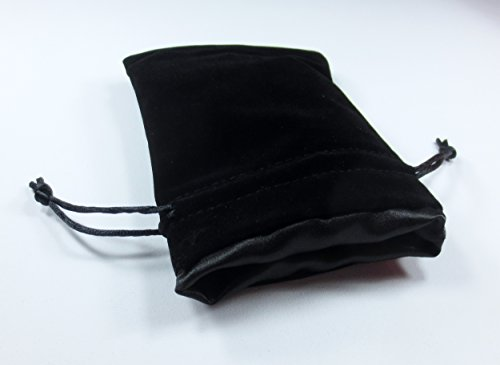 4x5 The Black Void Premium Black Velvet Dice Bag with Strong Black Satin Lining (Dice Bag Capacity is 5 Sets / 35 Dice)