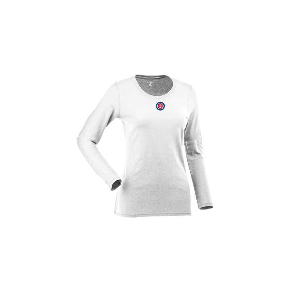 Chicago Cubs Womens Relax Long Sleeve Tee (White) Sports