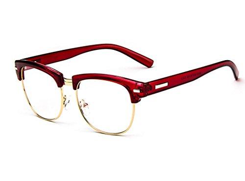 dking-unisex-vintage-inspired-classic-half-frame-horn-rimmed-clear-lens-red-gold