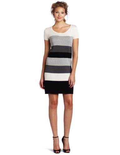 BCBGMAXAZRIA Women's Gracie Short Sleeve Color Block Dress