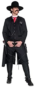 Smiffy's Men's Authentic Sheriff Costume, Black, Medium