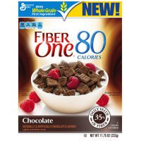 Fiber One 80 Calories Chocolate Squares Cereal, 11.75 Ounce