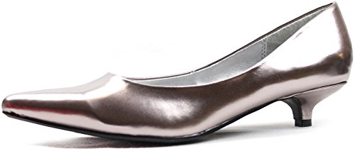"""Women'S Qupid Quisa-01 Pewter 1.25"""" Fashion Pumps Shoes, Pewter, 7"""