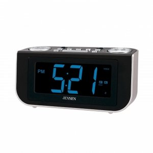 Jensen JCR-300 Interactive AM/FM Talking Dual Alarm clock Radio with Voice Recognition