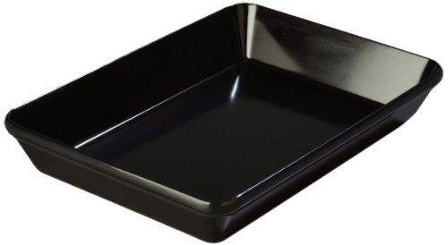 "Carlisle 791903 Designer Displayware Melamine Baker Dish, 2.9 Qt. Capacity, 12"" L X 8-1/2"" W X 2.2"" H, Black (Case Of 4)"
