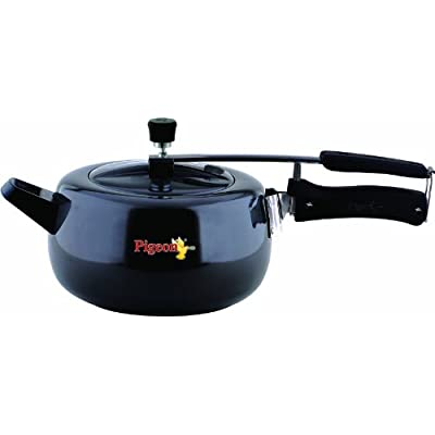 Pigeon Marvella Hard Anodized Pressure Cooker, 3.5 Litres, Silver