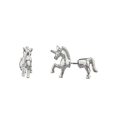 lux-zubehor-silvertone-einhorn-form-animal-fake-gauge-vorne-ruckseite-ohrring
