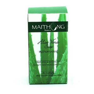 Maithong Mangosteen Natural Herbal Anti-oxidant Aha Soap Prevent Acne & Rash Reduce Acne