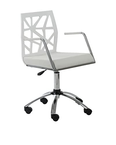 Euro Style Sophia Office Chair, White