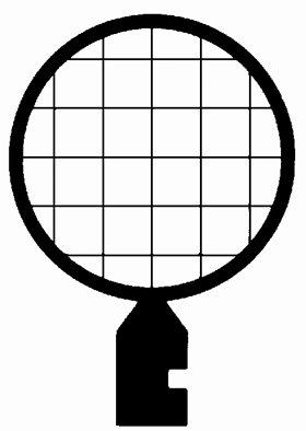 Veco Square Mesh Handle Grid 200 Mesh, Nickel, 125 Μm , 100/Vl
