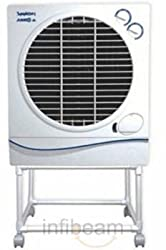 Symphony Jumbo Jr. 22-Litre Air Cooler with Trolley (White)