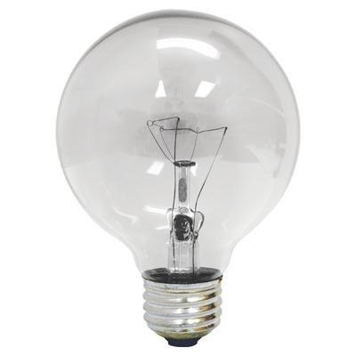 ge 64509 60 watt g25 decorative globe light bulb crystal clear pack of 12 - Decorative Globe