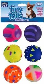 Vo-Toys Mini Vinyl Puppy Balls 6 Pack Dog Toy