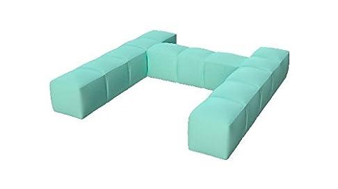 Pigro Felice Modul' aria lusso schienale gonfiabile semplice PVC verde di acqua 117x 117x 24cm