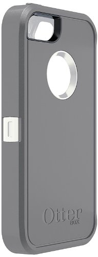 OtterBox Defender Series Case for iPhone 5 ( Not for iPhone 5C ) Retail Packaging - White/Gray