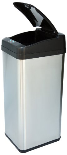 iTouchless It13MXP Extra-Wide Stainless Steel Automatic Sensor Touchless Trash Can, 13-Gallon
