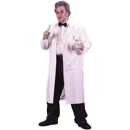 [Mad Scientist Lab Coat Adult Halloween Costume - One Size WLM] (Lab Halloween Costume Ideas)