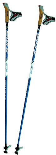 Swix , Ct4+, Nordic Walking Poles/Sticks, Just Click Loop, Twist  &  Go Top, 135Cm