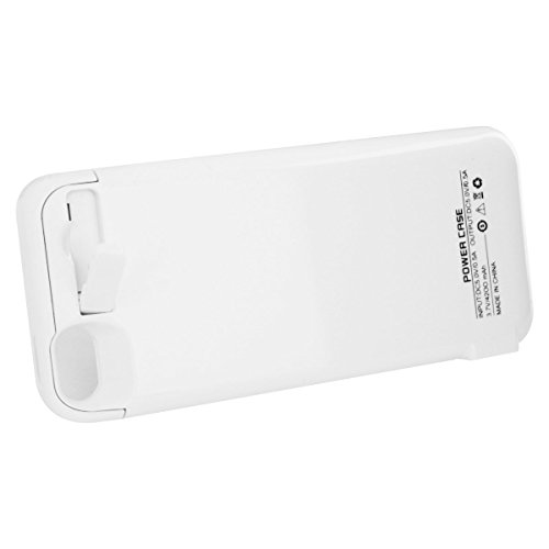 4200Mah Extended Battery Case Back Up Power Bank For Iphone 5 / 5S Back Up, Lightning Charging Port, Kick Stand, Slim Fit Slider Design, Full Body Protection, On/Off Switch Led Battery Level Indicator (White)