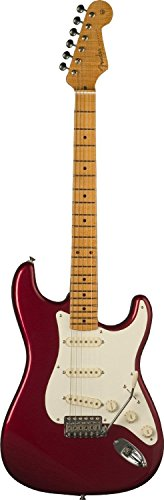 Fender Eric Johnson Stratocaster® Maple Electric Guitar, Candy Apple Red, Maple Fretboard